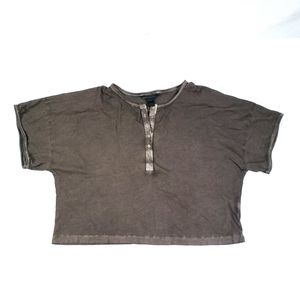 Marc By Marc Jacobs Marble Tee Slate Brown Sz L